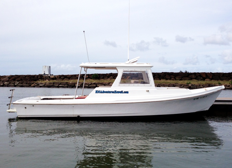 North shore charter boat 39 foxy lady 39 the seeker oahu hawaii for Bottom fishing oahu