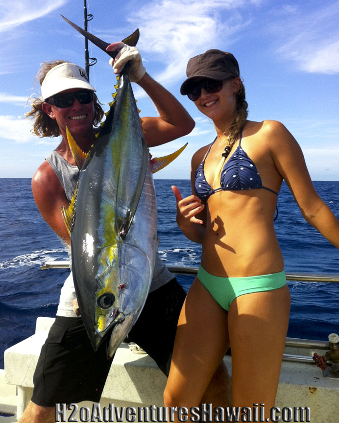Ahi Yellow Fin Tuna caught aboard The SEEKER