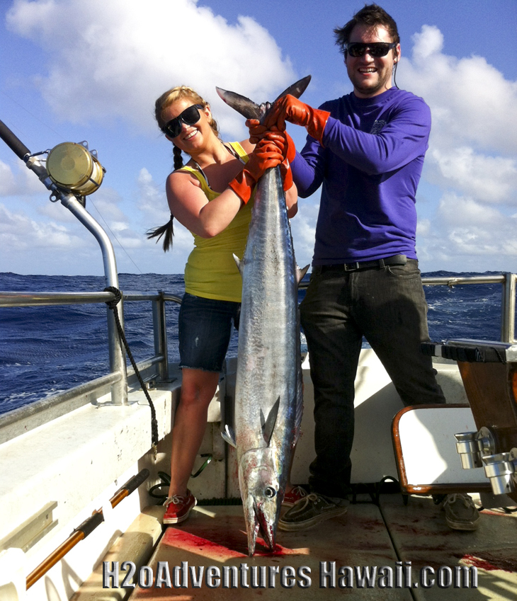 "Nice ""Ono"" (Wahoo) caught aboard The SEEKER"
