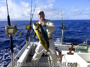The SEEKER North Shore Sportfishing Charter Mahi Mahi onboard
