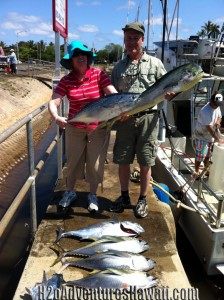The Day's catch of Tuna & Mahi Mahi! Half day charter aboard The Seeker.