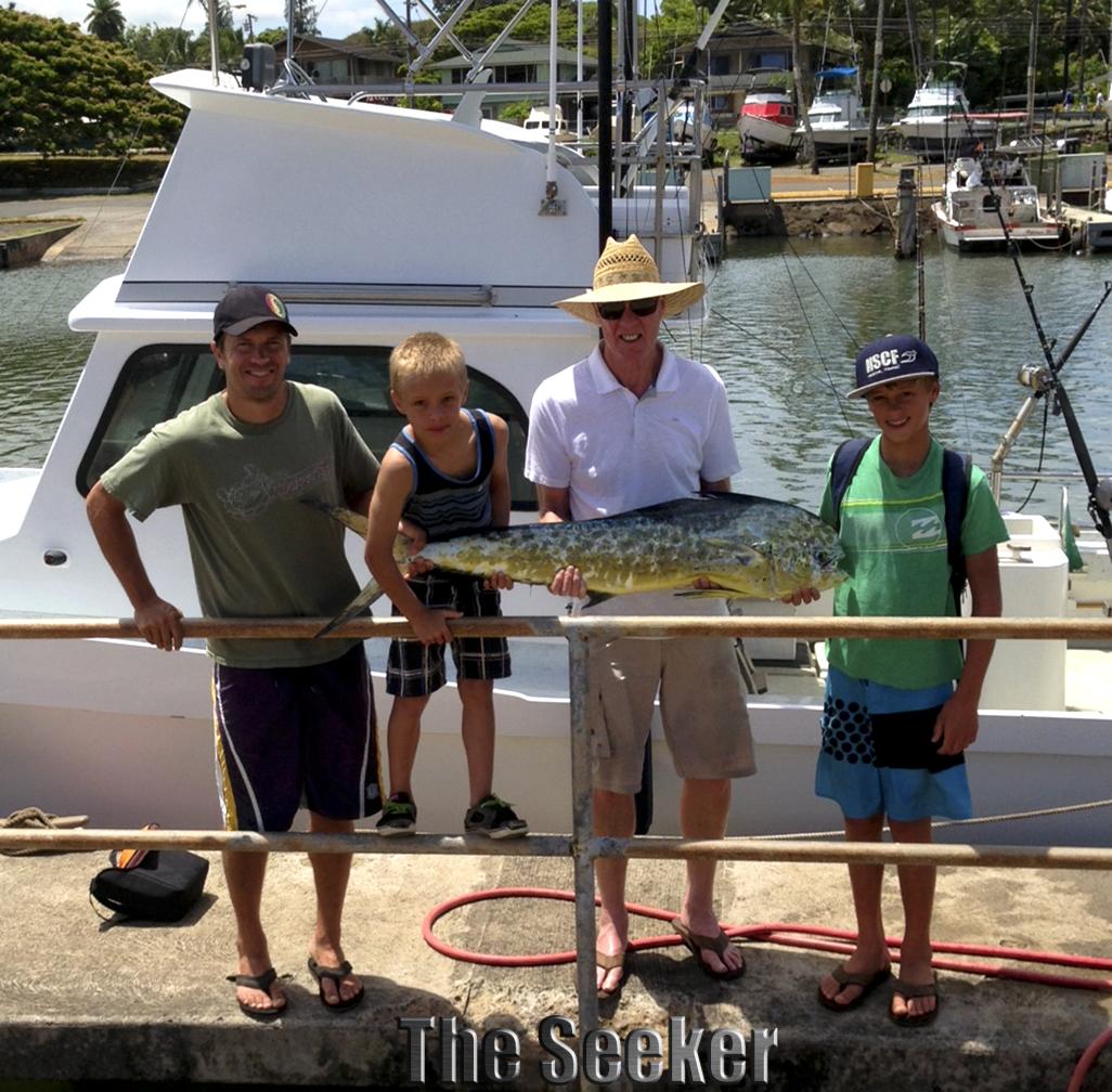 Family fishing trip for dinner