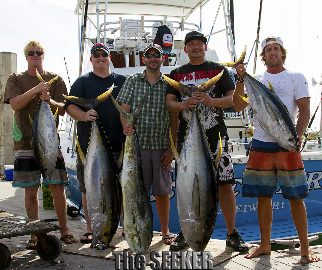 Ahi, Shibi Yellow Fin Tuna & Mahi Mahi on the The Seeker charter and its just the beginning of the season!