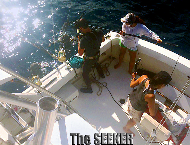 The Seeker Travel Channel filming spearfishing show