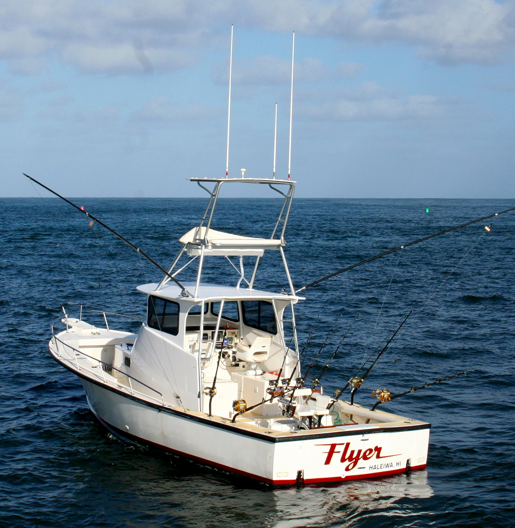 North shore charter boat 39 foxy lady 39 the seeker oahu for Bottom fishing oahu