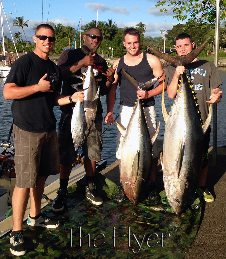 Flyer 1-26-15 Tuna Ahi Chupu Sportfishing Charter Boat Hawaii