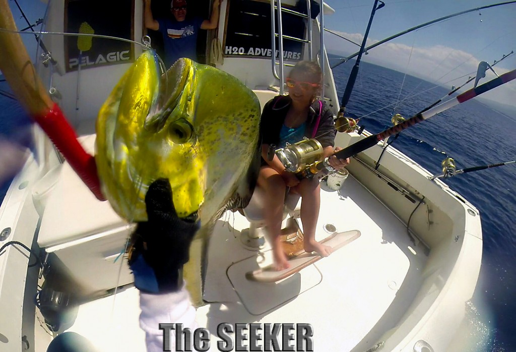 Seeker 3-18-15 Mahi Mahi fishing charter boat the Seeker Chupu H2o Adventures Hawaii