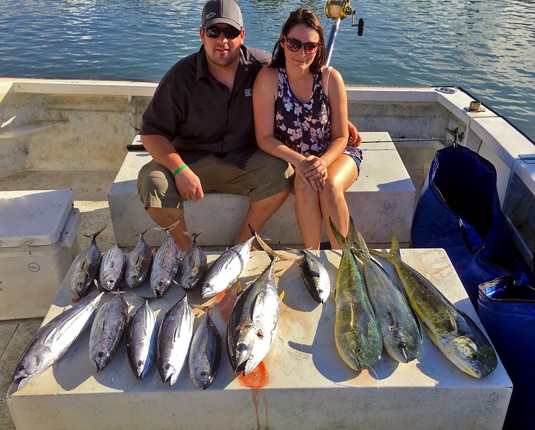 Fish onboard Mahi Mahi Tuna